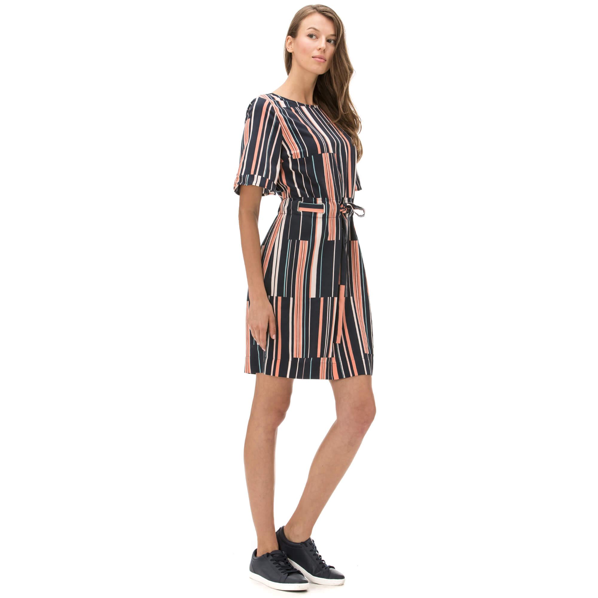 Nautica Kadın Çizgili Lacivert Elbise