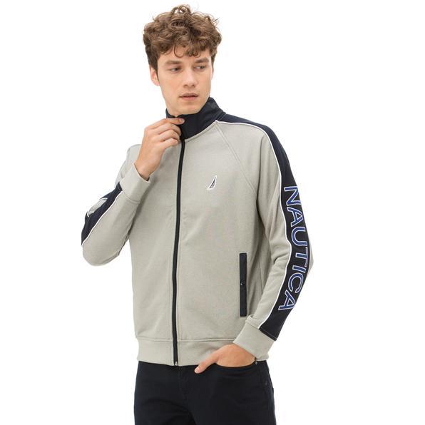 Nautica Erkek Fermuarlı Gri Sweatshirt