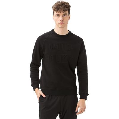 Nautica Erkek Bisiklet Yaka Siyah Sweatshirt