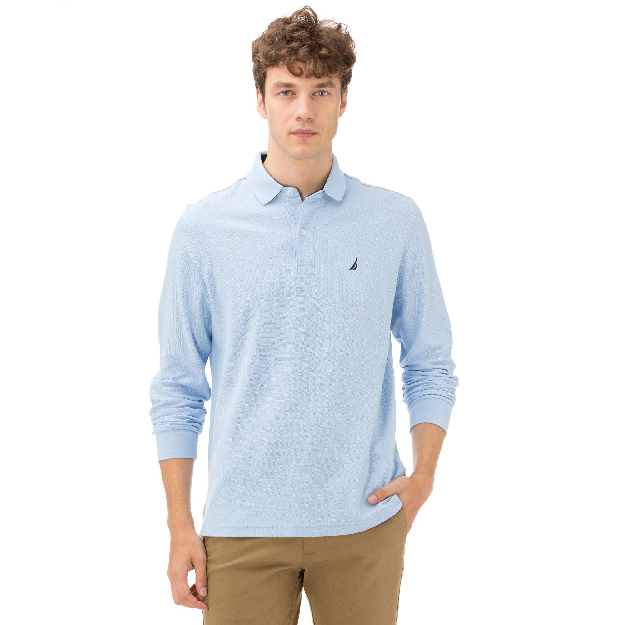 Nautica Erkek Classıc Fıt Açık Mavi Polo