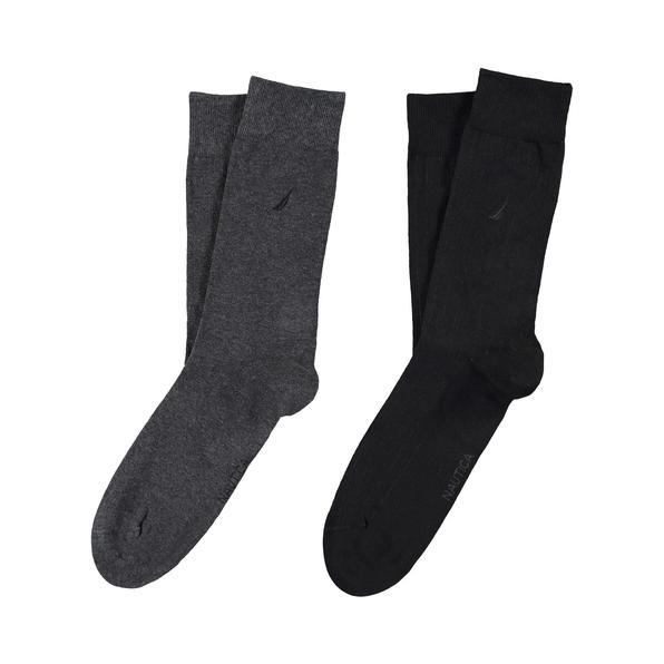 Nautica Erkek Koyu Gri-Siyah 2'Li Çorap