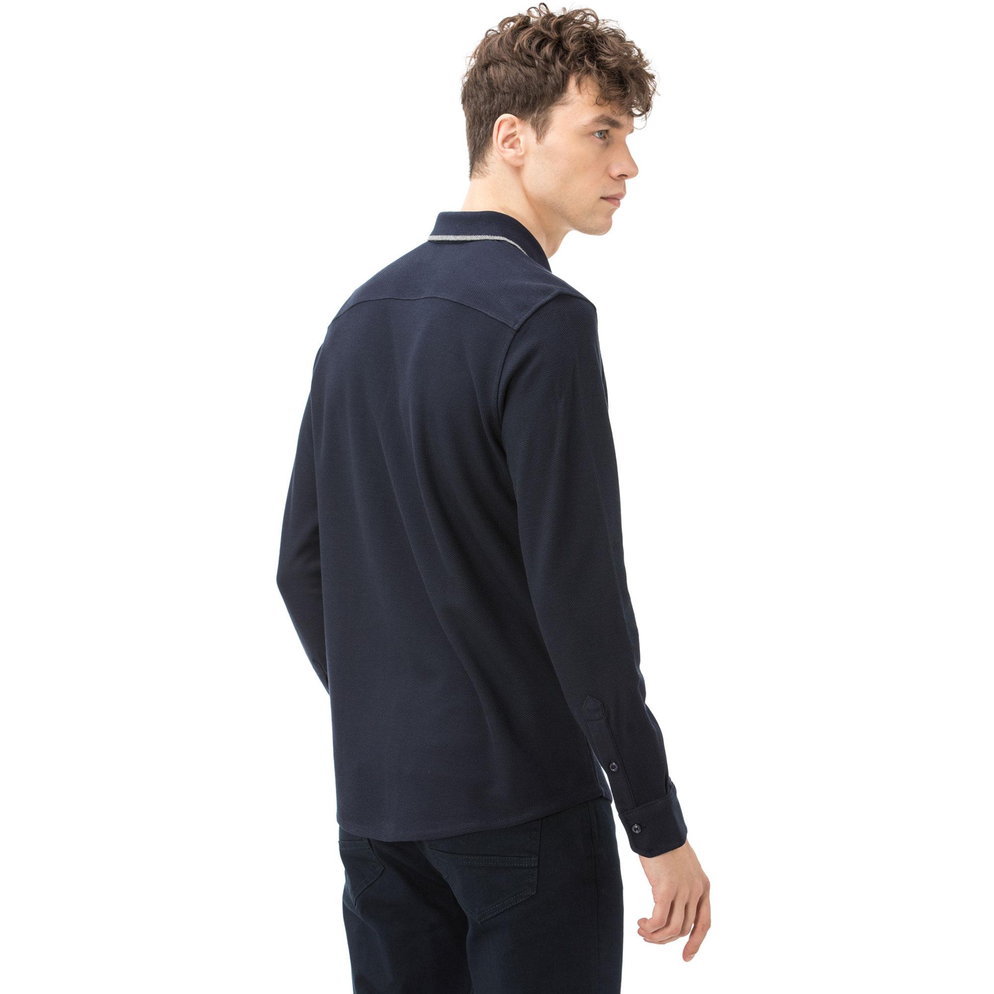 Nautica Uzun Kollu Erkek Lacivert Polo