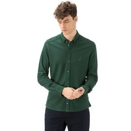 Nautica Erkek Yeşil Pike Slim Fit Gömlek