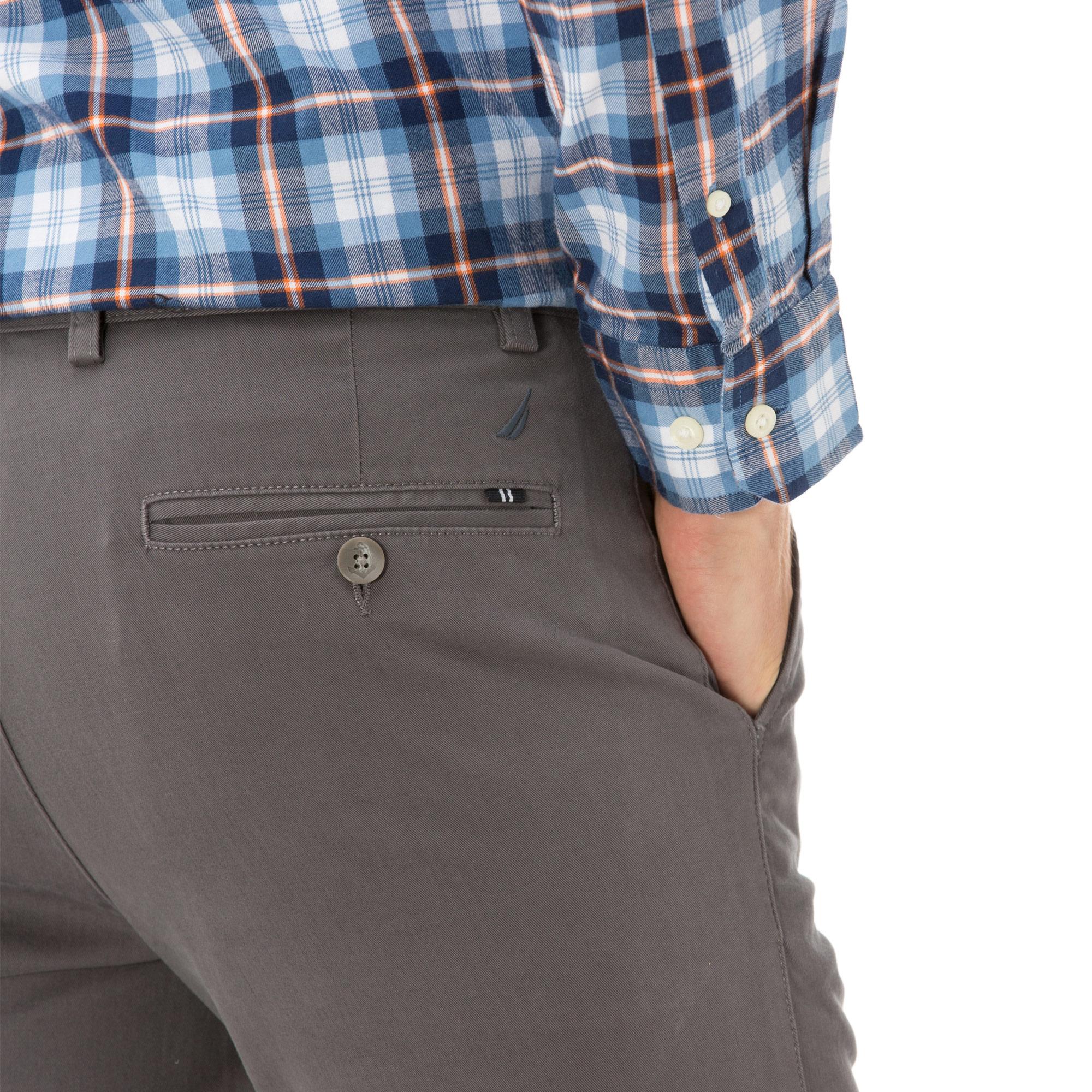 Nautica Erkek Slim Fit Gri Pantolon