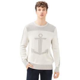 Nautica Krem Rengi Uzun Kollu Erkek Triko