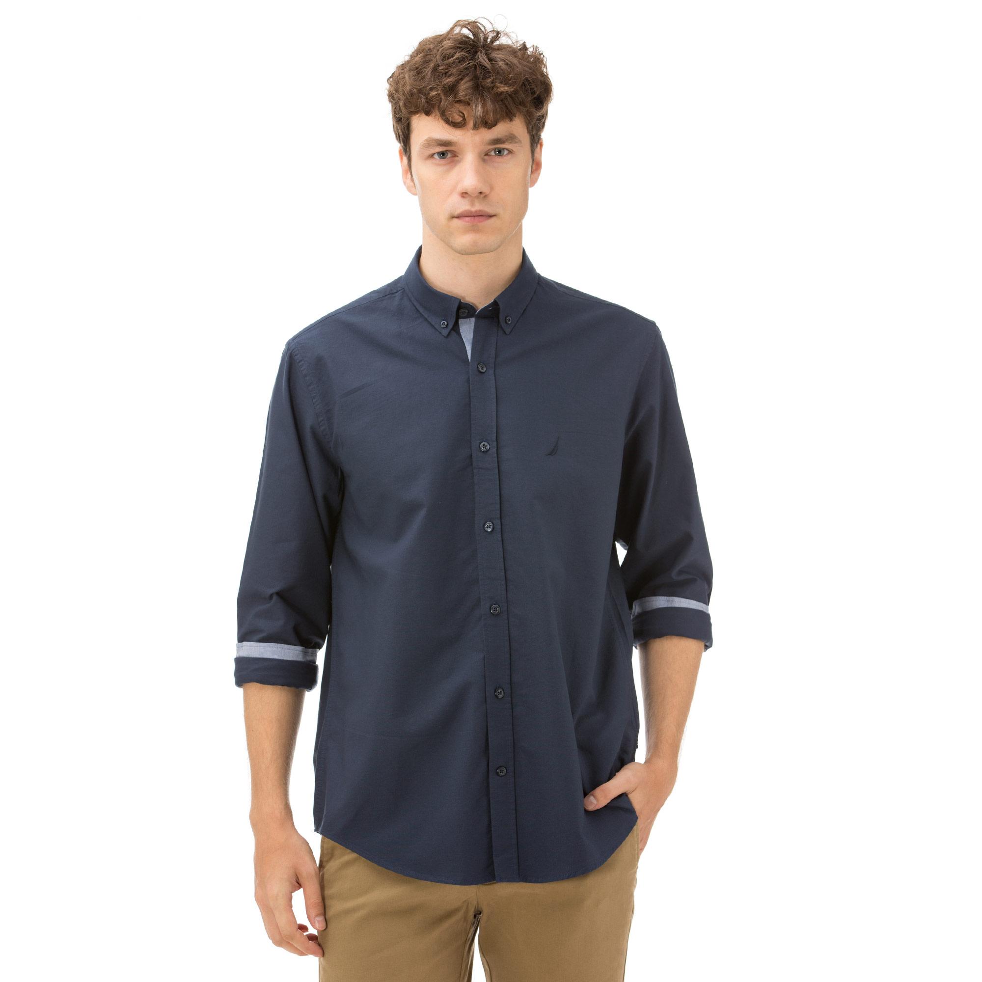Nautica Erkek Classıc Fıt Lacivert Gömlek