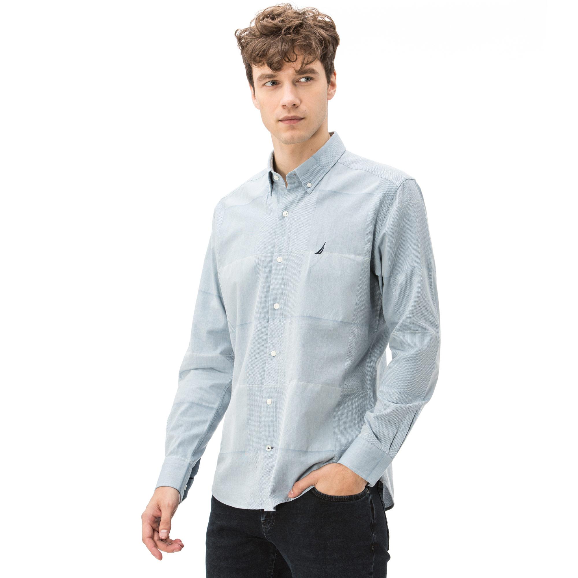 Nautica Erkek Slim Fit Açık Mavi Gömlek