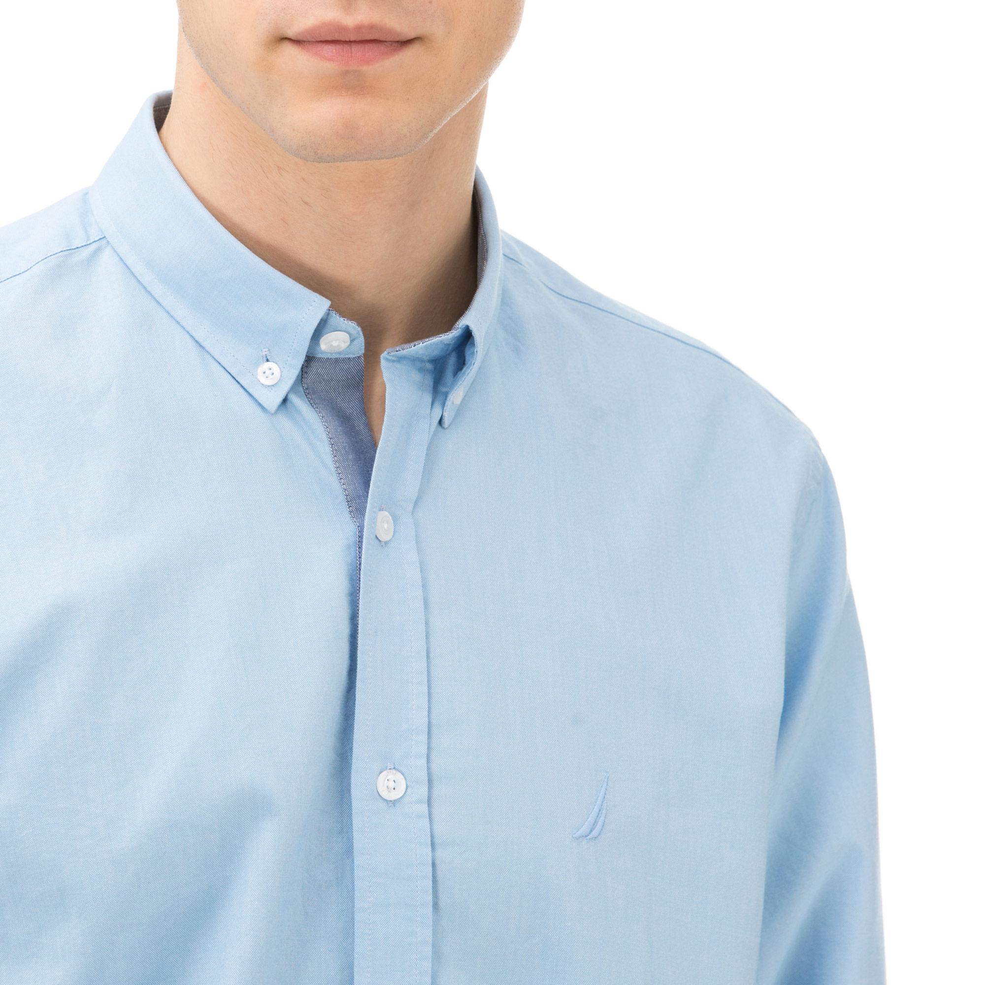 Nautica Erkek Classıc Fıt Açık Mavi Gömlek