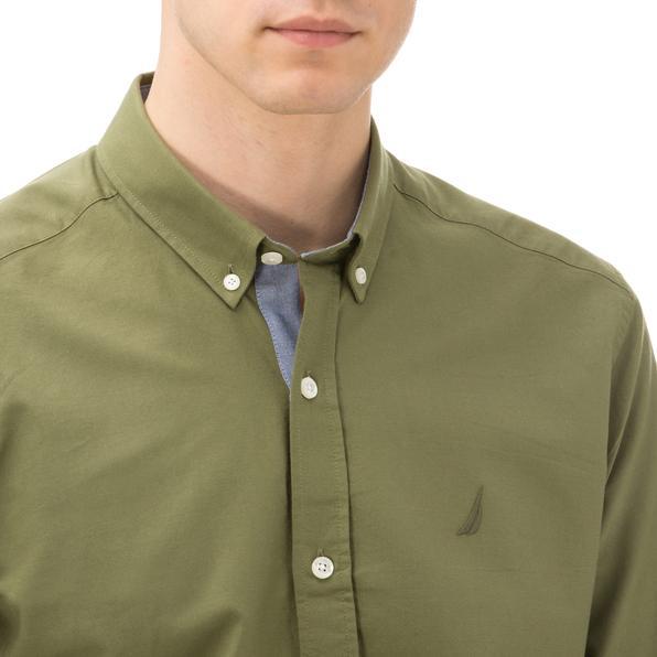 Nautica Erkek Slim Fit Palma Düğmeli Haki Gömlek
