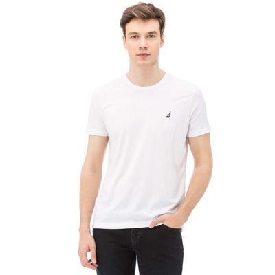 Nautica Erkek Slim Fit Beyaz T-Shirt