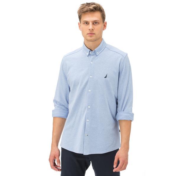 Nautica Erkek Açık Mavi Slim Fit Gömlek