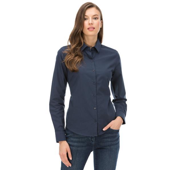 Nautica Kadın Classıc Fıt Lacivert Gömlek