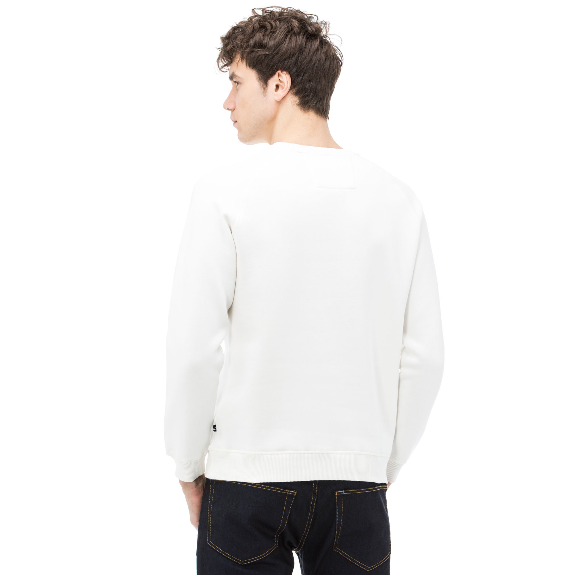 Nautica Erkek Bisiklet Yaka Kırık Beyaz Sweatshirt