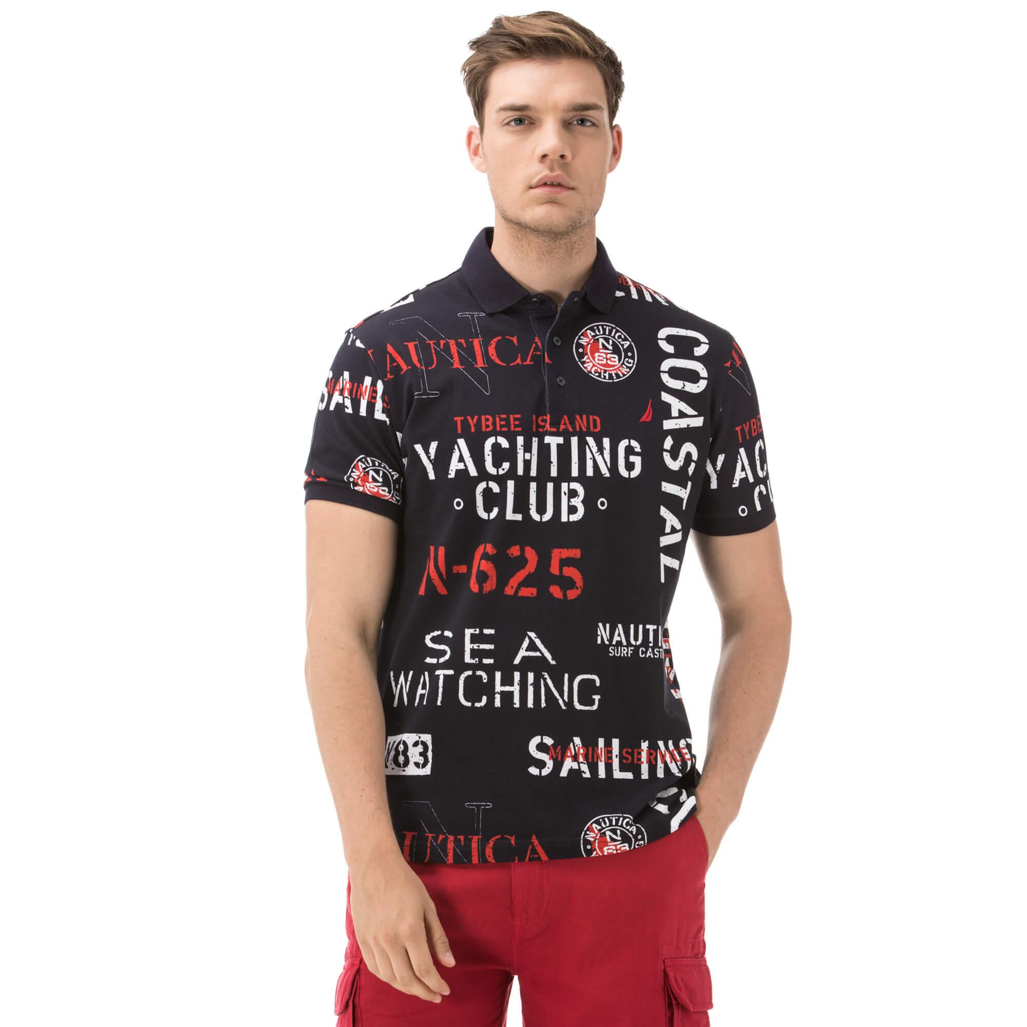 Nautica Erkek Slim Fit Lacivert Polo