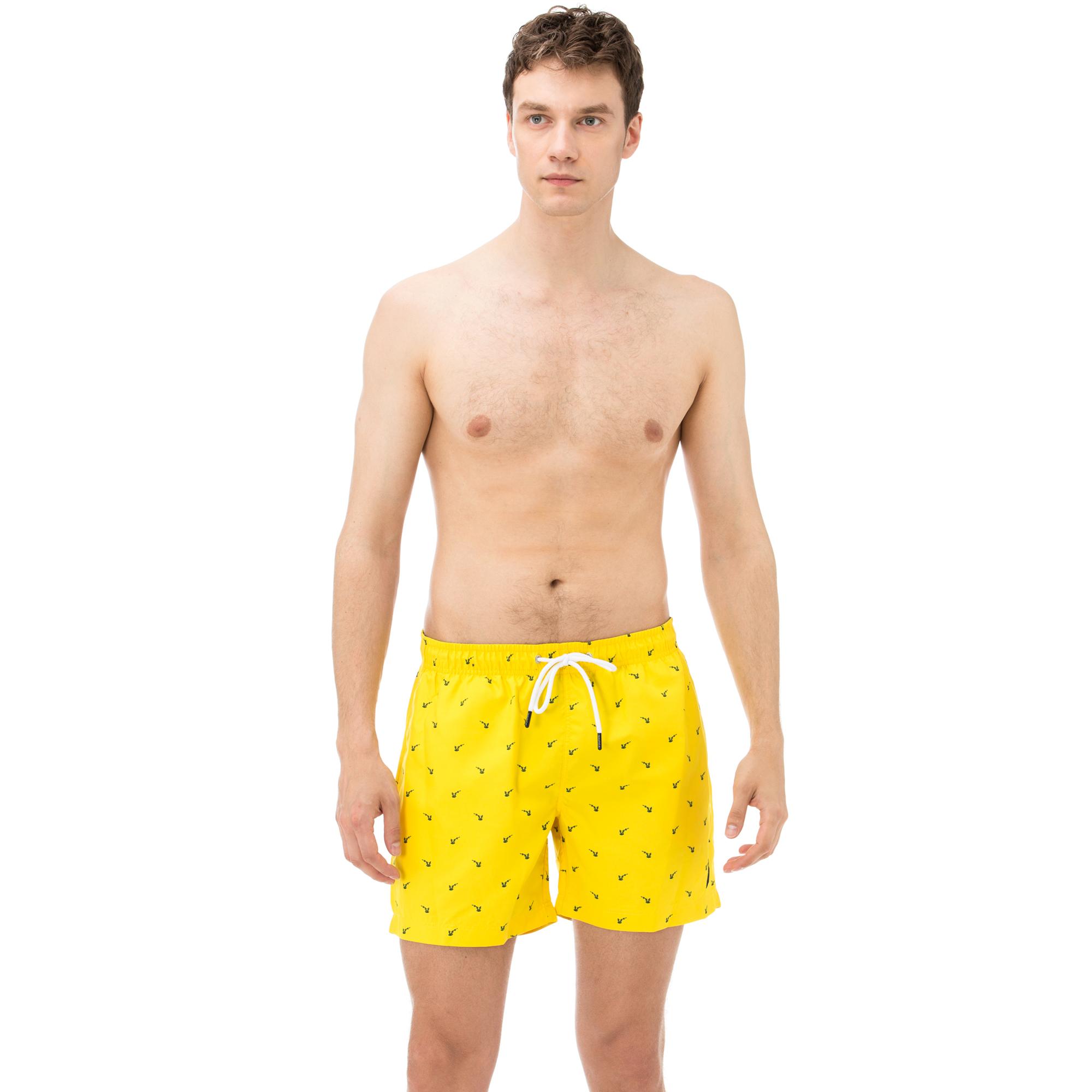Nautica Erkek Sari Kisa Capa Desenli Sort Mayo Erkek Mayo Sort T91013t Nautica