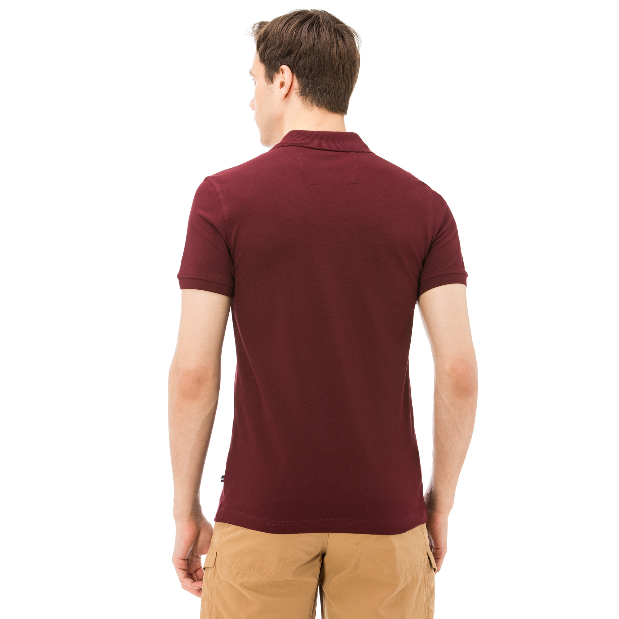 NAUTICA ERKEK BORDO KISA KOLLU SLIM FIT POLO