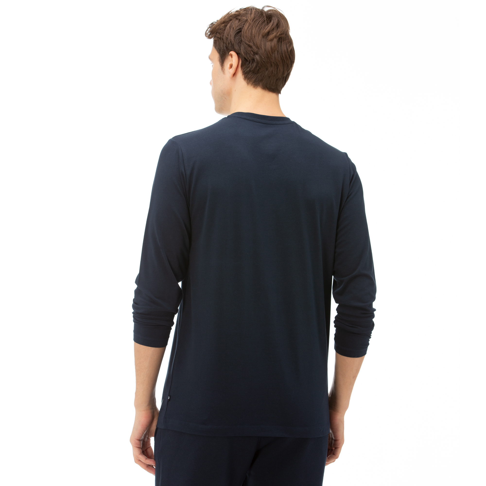 NAUTICA Erkek Lacivert Uzun Kollu Standart Fit Baskılı T-SHIRT