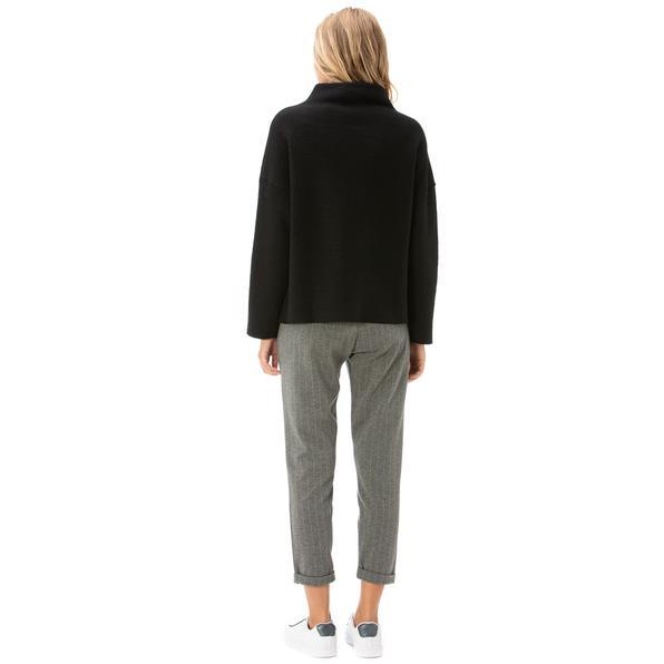 NAUTICA Kadın Gri Standart Fit Çizgili Pantolon