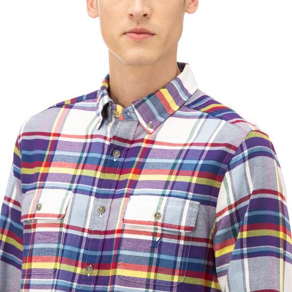 NAUTICA Erkek Lacivert Kareli Gömlek