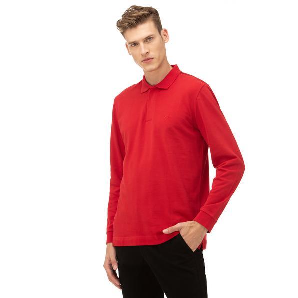NAUTICA Erkek Kırmızı Classic Fit Uzun Kollu Polo