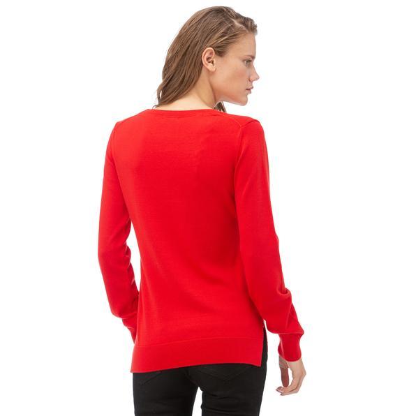 NAUTICA Kadın Kırmızı Triko