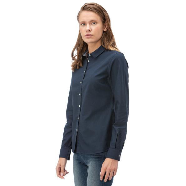 NAUTICA Kadın Lacivert Standart Fit Gömlek