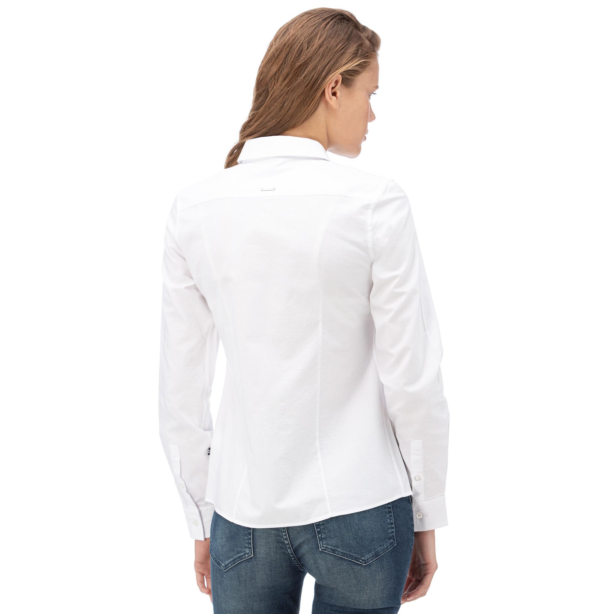 NAUTICA Kadın Beyaz Standart Fıt Gömlek