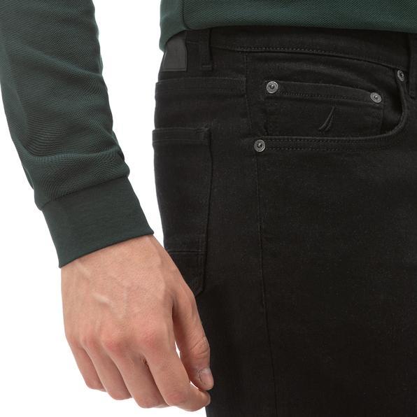 NAUTICA Erkek Siyah Slim Fit Denim Pantolon