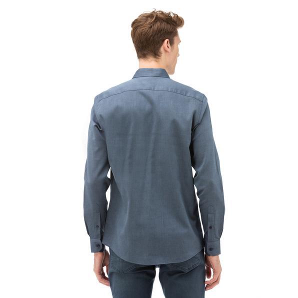 NAUTICA Erkek Lacivert Slim Fit Gömlek