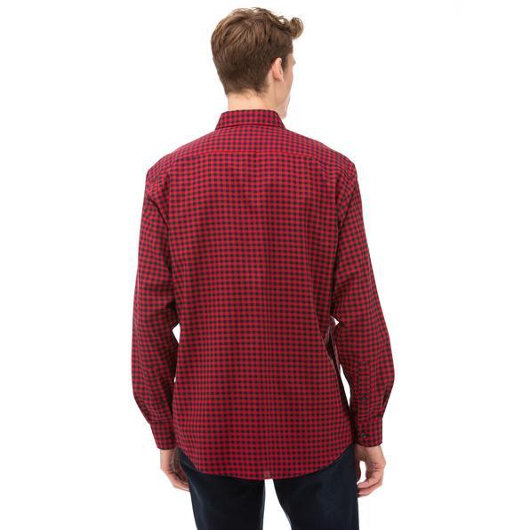 NAUTICA Erkek Kırmızı Classic Fit Kareli Gömlek