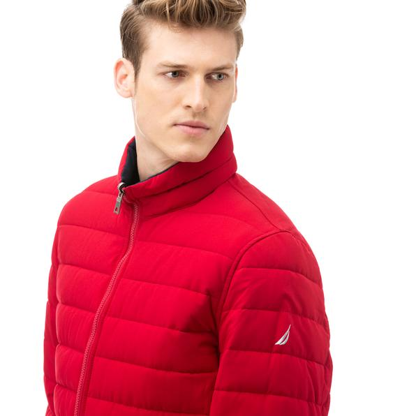 NAUTICA Erkek Kırmızı Çift Taraflı Mont