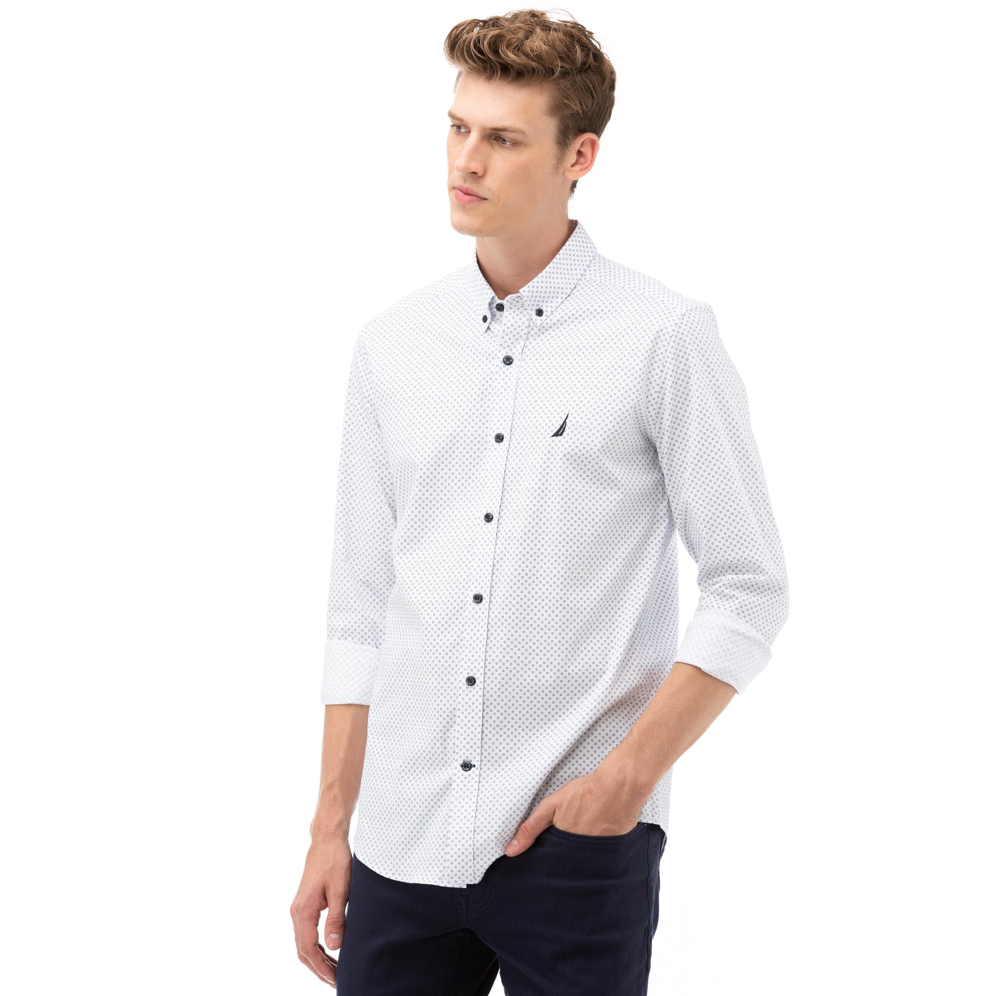 NAUTICA Erkek Beyaz Slim Fit Gömlek