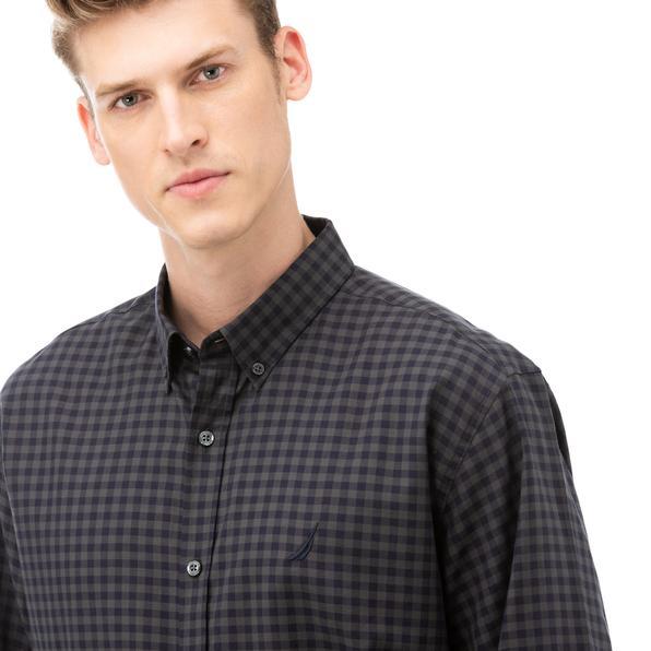 NAUTICA Erkek Lacivert Classic Fit Kareli Gömlek