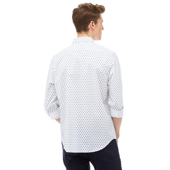NAUTICA Erkek Beyaz Desenli Gömlek