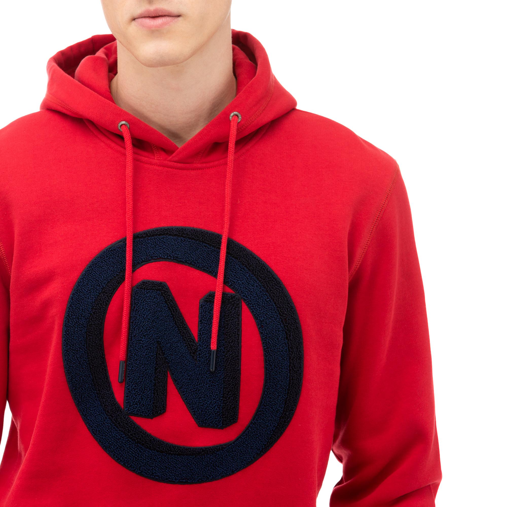 NAUTICA Erkek Kırmızı Baskılı Sweatshirt