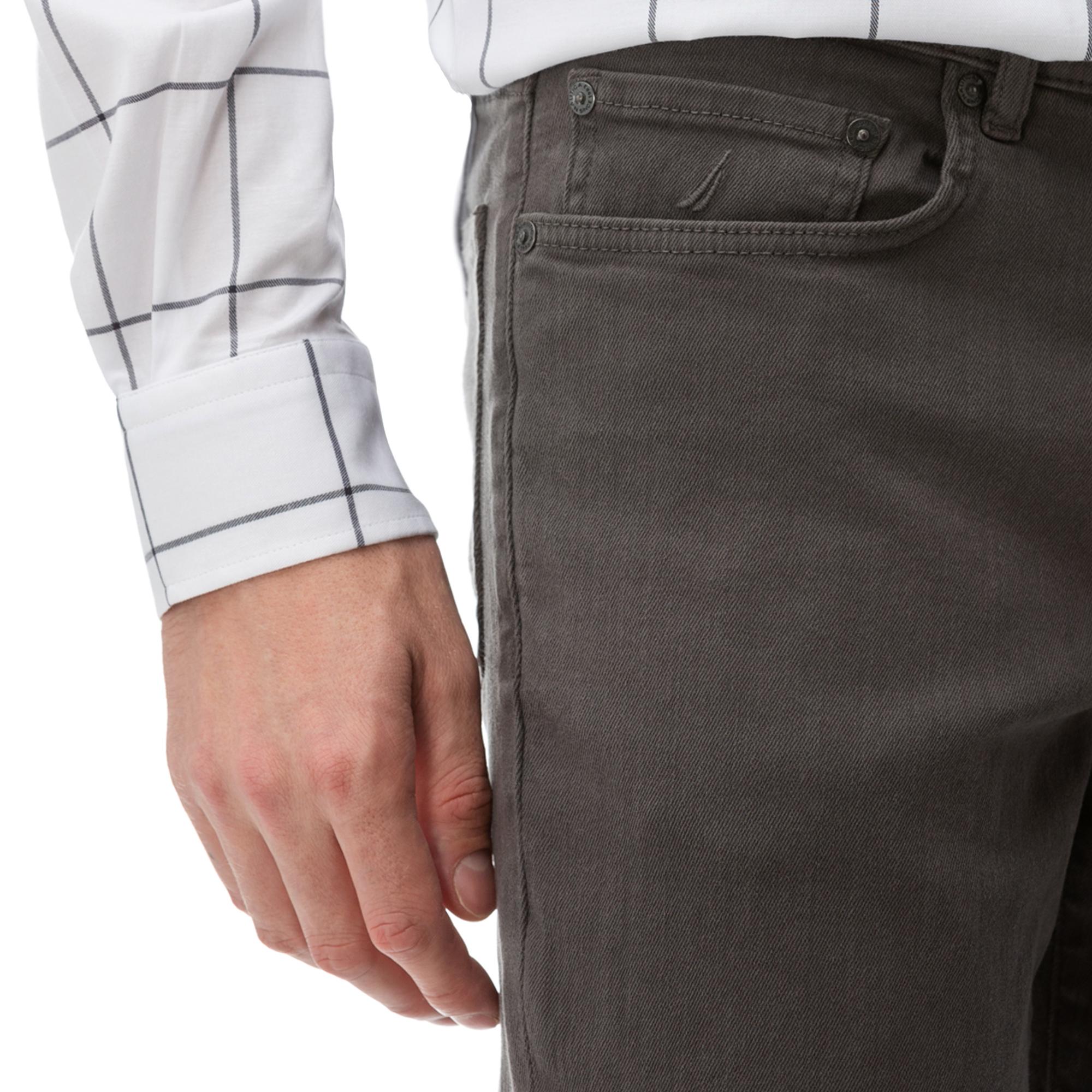 NAUTICA Erkek Gri Slim Fit Pantolon