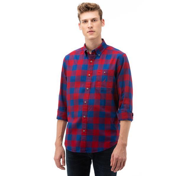 NAUTICA Erkek Kırmızı Kareli Gömlek