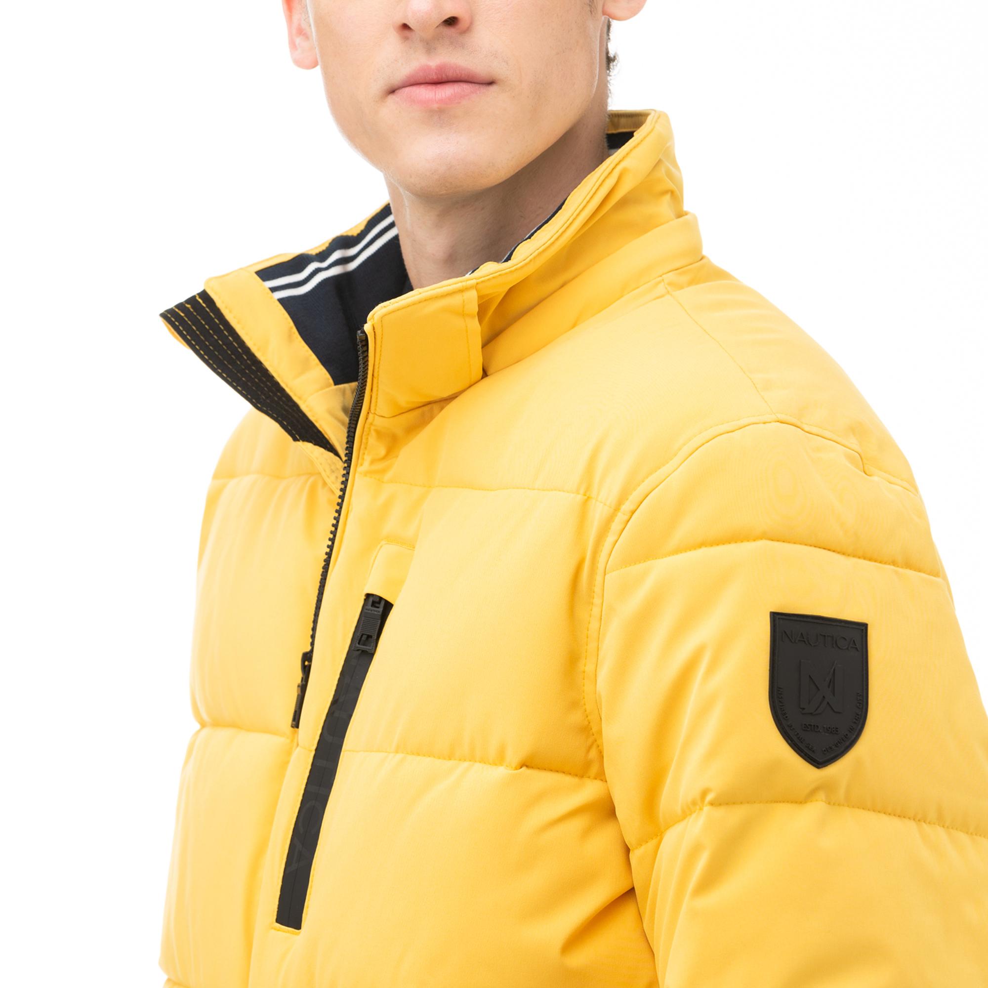 NAUTICA Erkek Sarı Kapitone Mont