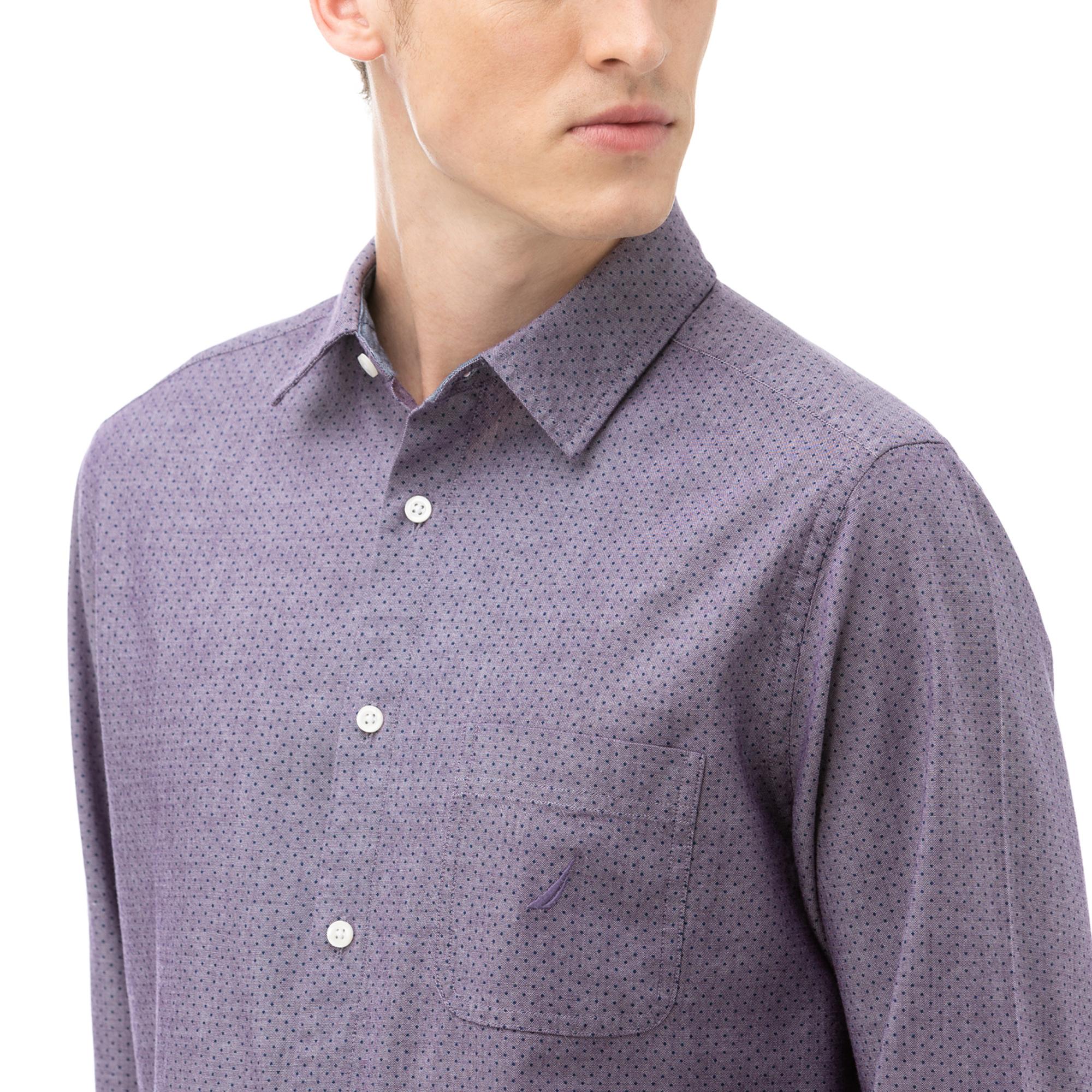 NAUTICA Erkek Bordo Kareli Gömlek
