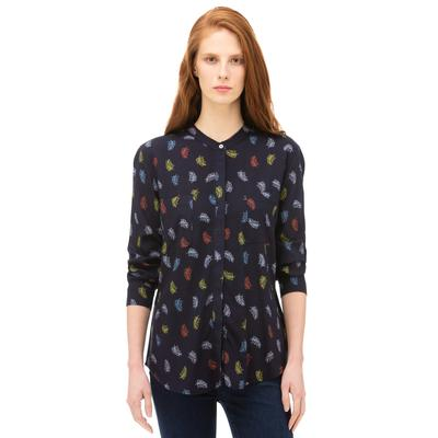 NAUTICA Kadın Lacivert Standart Fit Desenli Gömlek