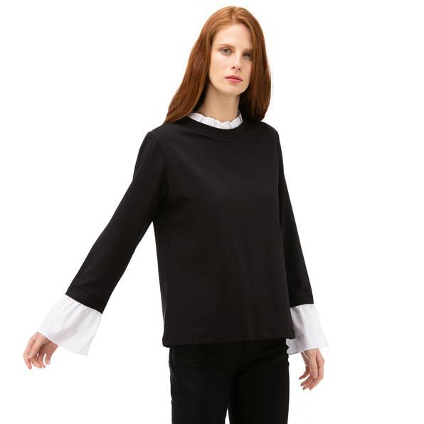 NAUTICA Kadın Siyah Standart Fit T-SHIRT