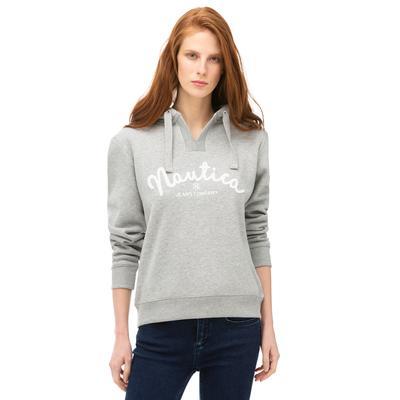 NAUTICA Kadın Gri Baskılı Sweatshirt
