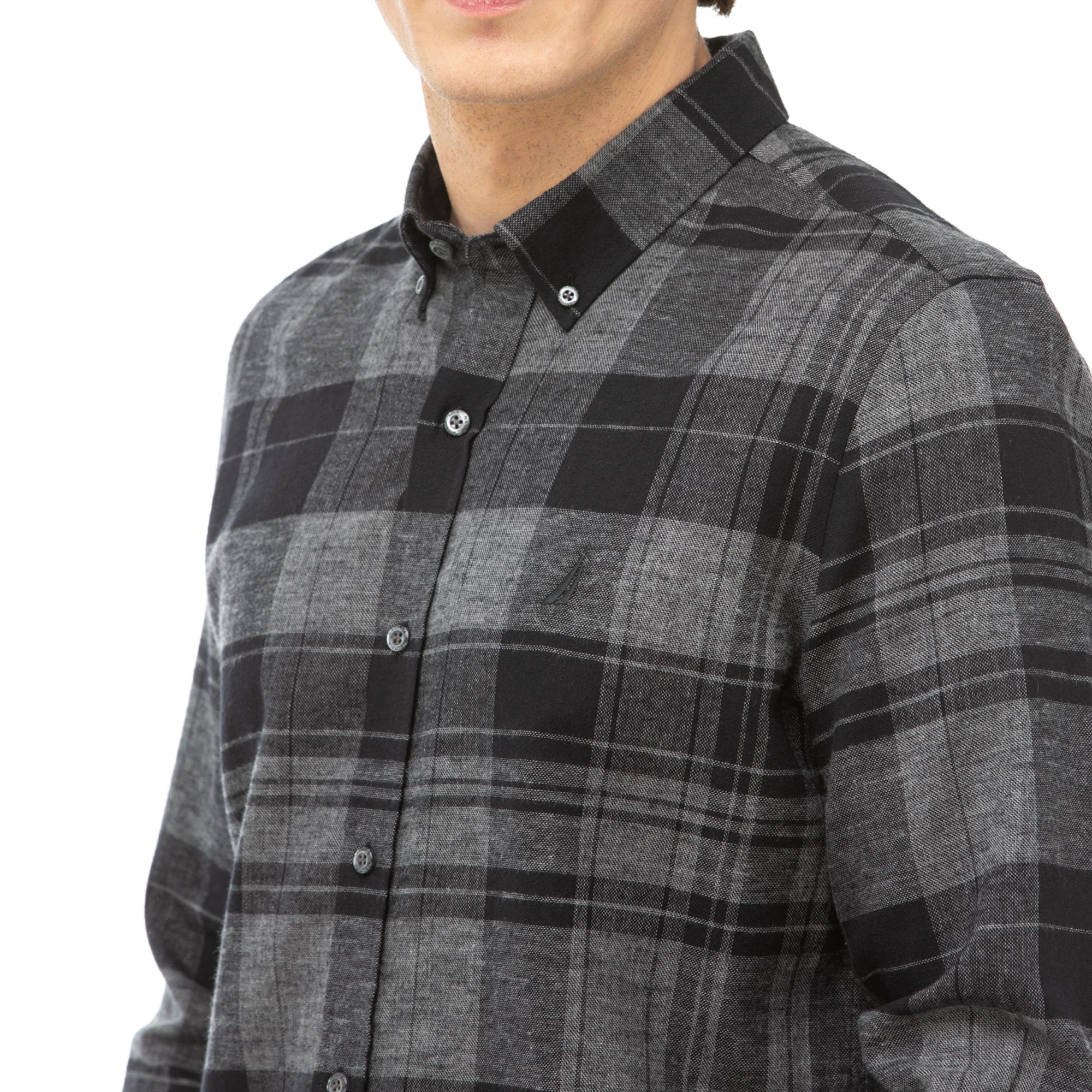 NAUTICA Erkek Siyah Slim Fit Kareli Gömlek