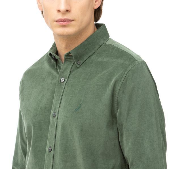 NAUTICA Erkek Yeşil Slim Fit Gömlek