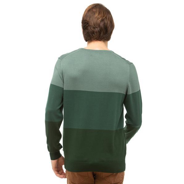 NAUTICA Erkek Yeşil Blok Desenli Triko