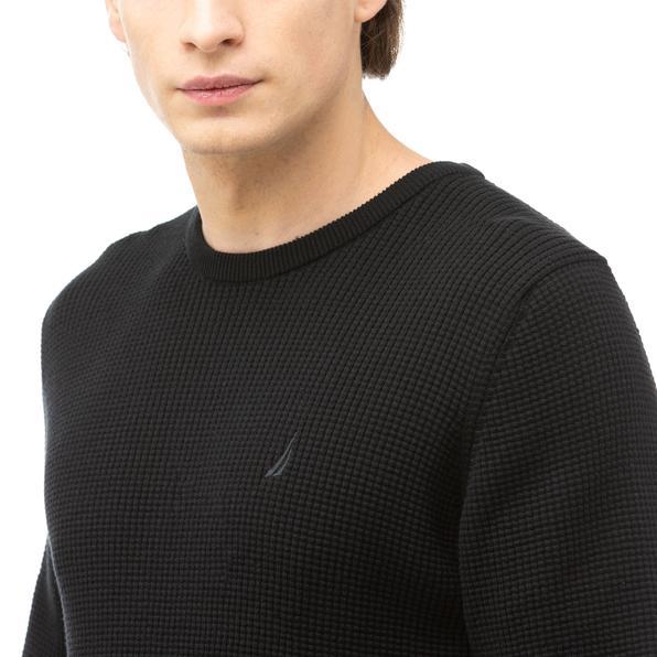 NAUTICA Erkek Siyah Triko Kazak