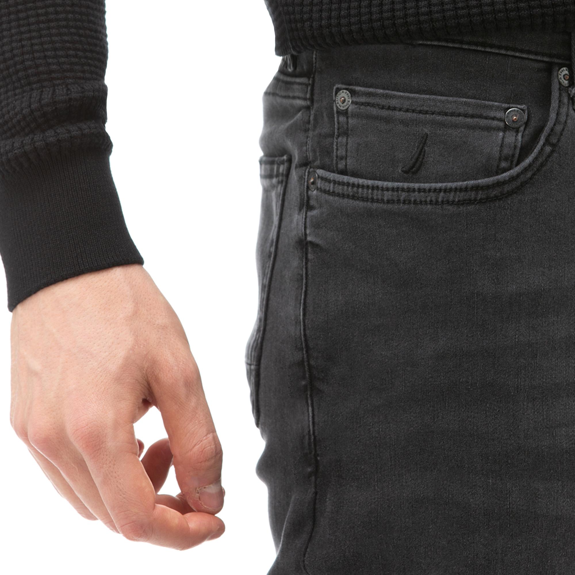 NAUTICA Erkek Gri Slim Fit Denim Pantolon