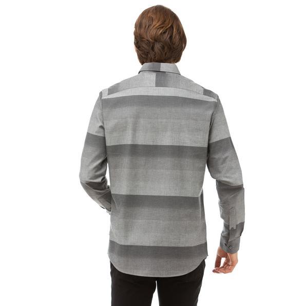 NAUTICA Erkek Siyah Slim Fit Blok Desenli Gömlek