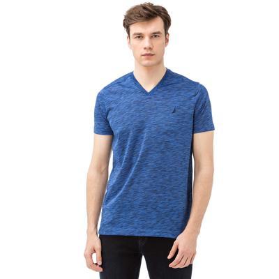 NAUTICA Erkek V Yaka Slim Fit Mavi T-Shirt