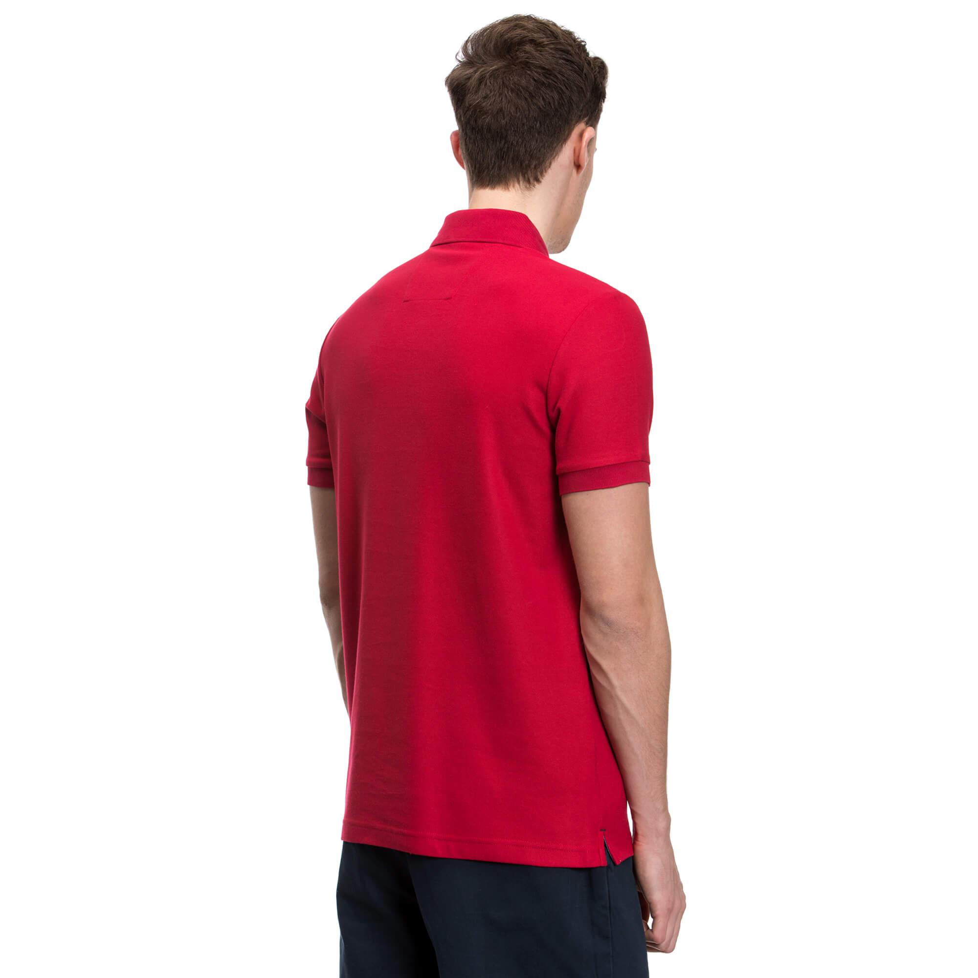 NAUTICA Erkek Slim Fit Kırmızı Performans Polo